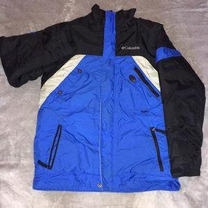 Blue/Black Columbia Boys Snow Coat